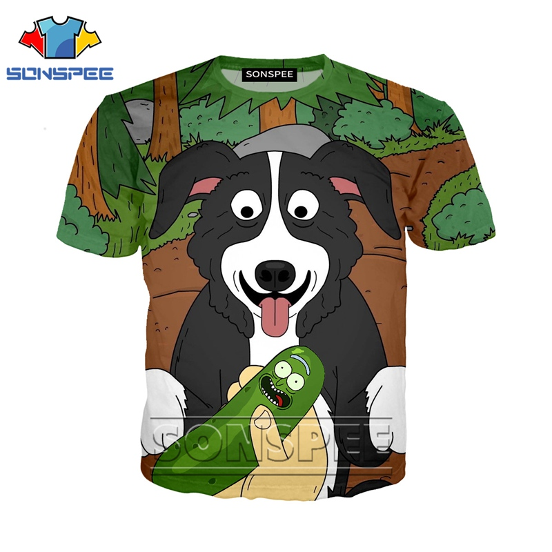 Anime 3d Print T Shirt Mr Pickles Men Women Streetwear Rock Fashion Dog T-shirt Kid Harajuku Tees Funny Shirts Homme Tshirt A65