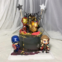the avengers toys topper cake decorating supplies cartoon action figure superheroes birthday gifts for kids children boys child