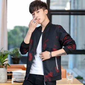 Hooded Coat Slim-Fit Korean-Style Men Fashion Chain Wear Link Tops Fencing Youth Not