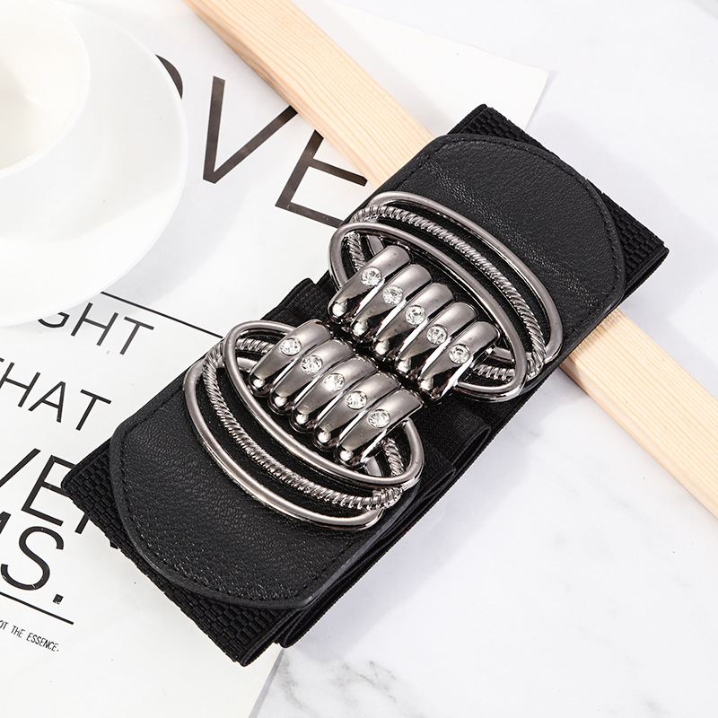 New Fashion Women Elastic Belts Designer Luxury Brand Wide Waist Strap Dress Coat Sweater Ladies Decorative Waistband