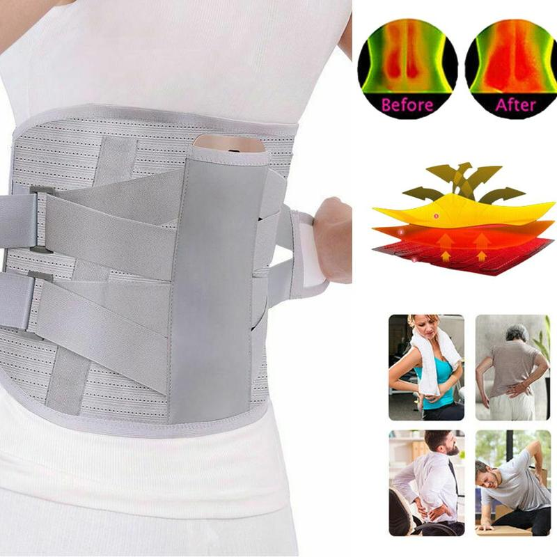 Self-heating Magnetic Steel Plates Waist Support Belt Orthopedic Tourmaline Lumbar Support Back Brace Belt For Sport