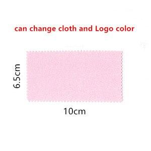 Image 4 - 300 stücke anpassen produkte Freies drucken logo Schmuck Reinigung Polieren Tuch Messing Polierer für Platin Silber Gold Reiniger