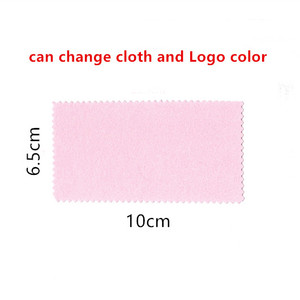 Image 4 - 300pcs אישית מוצרי משלוח הדפסת לוגו תכשיטי ניקוי ליטוש בד פליז לטש עבור פלטינה כסף זהב מנקה