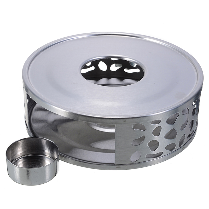 New Teapot Trivets Stainless Steel Warmer Tea Holder Stand Coffee Tea Warming Light Holder Base Teaware Accessories Durable