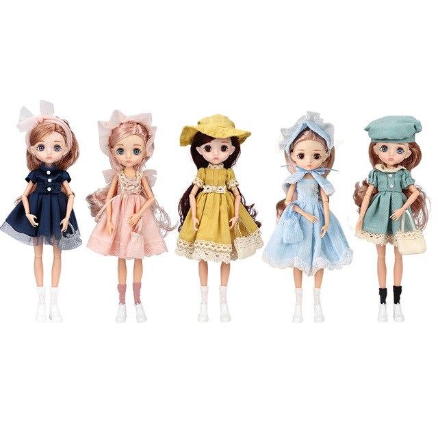 Adollya 1/6 BJD Movable Joints Mini Dolls For Girls BJD Doll Full Set Princess Female Body BJD Accessories Kawaii Toys For Girls 6