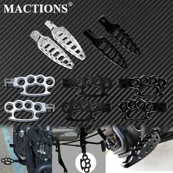 Motorcycle Flying Knuckle Footpegs Footrests 45 Degrees Male Mount Foot Pegs Aluminum For Harley Sportster XL Softail Dyna FXDF