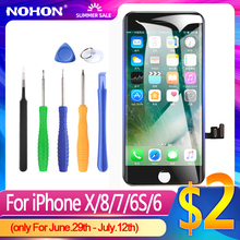 NOHON pantalla LCD para iPhone 6S, repuesto de pantalla para iPhone 7, 8, X, XS, XR, digitalizador 3D táctil, AAAA