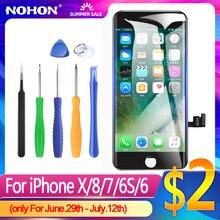 Wyświetlacz NOHON dla iPhone 6 LCD dla iPhone 6S wymiana ekranu dla iPhone 7 8 X XS XR wyświetlacz montaż Digitizer 3D dotykowy AAAA