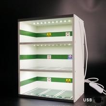 1:43 underground parking lot  3 layers garage display cabinet for model car storage box rack scene decoration
