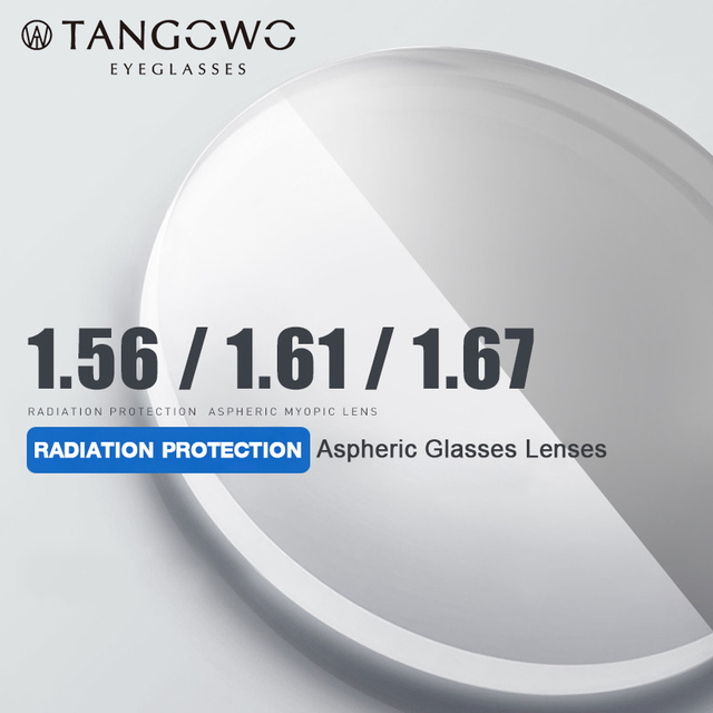 TANGOWO 1.56 1.61 1.67 (+ 12.00 ~ 12.00) מרשם CR 39 שרף אספריים משקפיים עדשות קוצר ראייה רוחק פרסביופיה עדשה אופטית