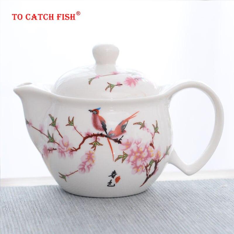 Chinese traditions porcelain tea pot  travel office Tea set Double teapot Belt filter KungFu Tea cup Kettle Porcelain Teaware porcelain tea pot tea pot tea cup - title=