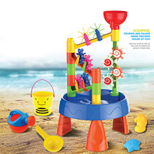 Funnel-Toys Water-Sand-Table Beach-Waterwheel 39pcs/Set Playset Gift Baby Outdoor Kids