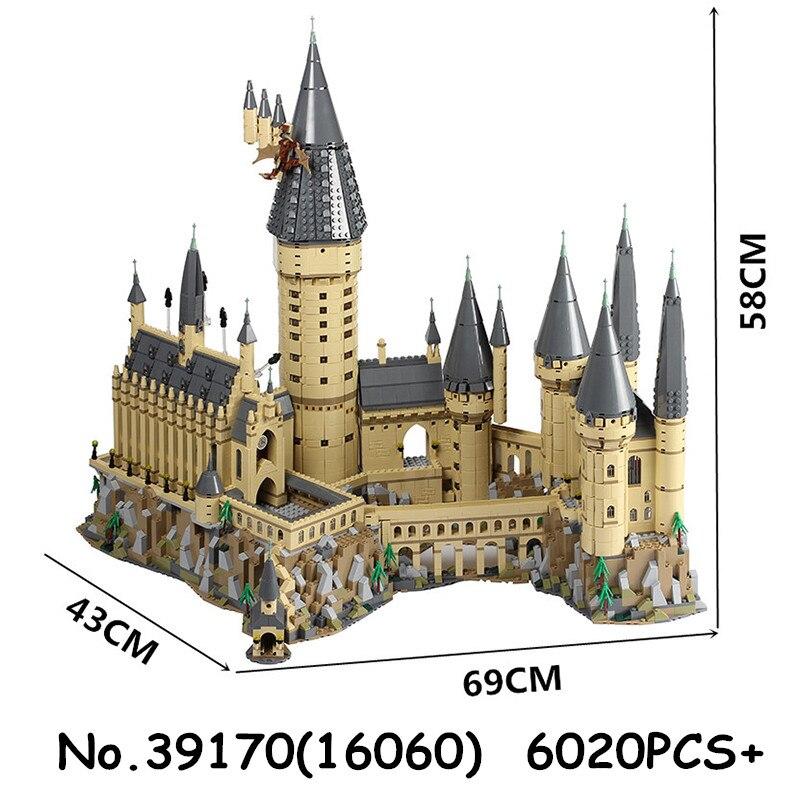 16060 6742 pièces Potter film château série film bloc de construction briques jouets enfants cadeau de noël Compatible avec 71043