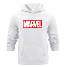 Joker Marvel Sweatshirts Winter Sweat Warm Woman Men Hoodies Hooded Light Tops Wear with Pocket Pullover All-match Print Fleece