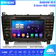 Erisin 8-Core DSP DAB + Android 10.0 Autoradio Car Stereo DVD GPS CarPlay SWC Wifi Per Mercedes Benz C/CLK/CLC Klasse W203 W209