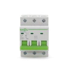3 Pole 4.5KA C Type AC 110V/230V/400V 6A 10A 16A 20A 25A 32A 40A50A63A MCB Miniature Circuit Breaker