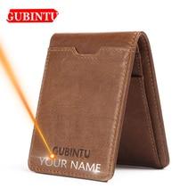 Men Wallets Card-Holder Thin Slim Genuine-Leather High-Quality Gubintu Business Multifunctional