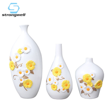 Strongwell Nordic Pastoral Pattern Flower Vase Resin Green Plants Hydroponic Device Desktop Home Decoration