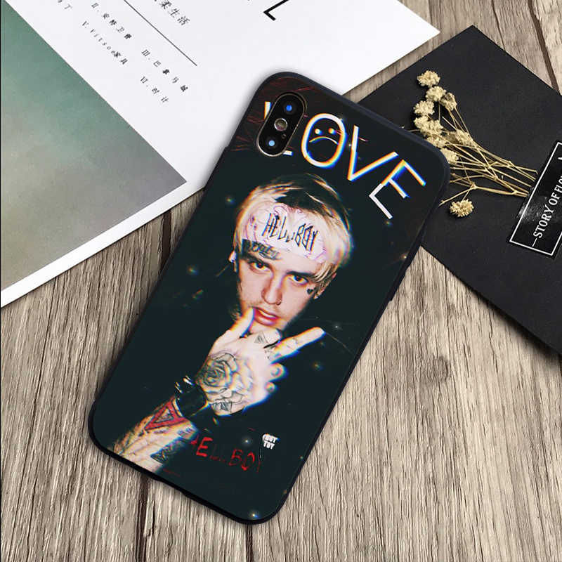 Lil Peep Lil Bo Peep ซิลิโคนสีดำโทรศัพท์กรณีสำหรับ iPhone 5 5S SE 6 6plus 7 8 plus X XR XS สูงสุด 11 PRO Max