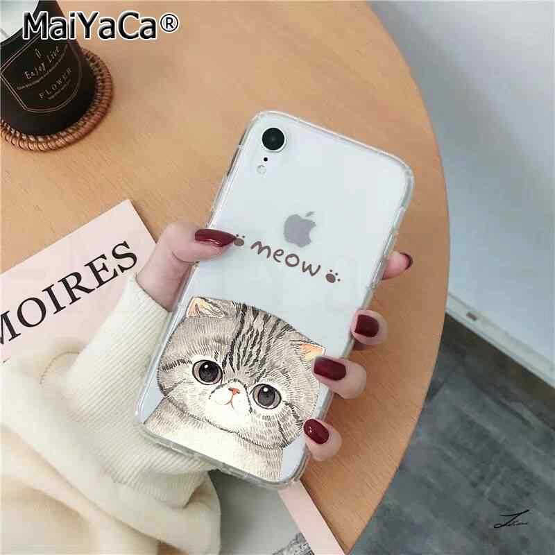 Maiyaca かわいい猫子猫塗装電話カバー iphone se 2020 11 プロ xs 最大 8 7 6 6 s プラス x 5 5 s 、 se xr カバー