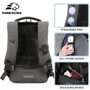 Image 5 - Kingsonsกระเป๋าเป้สะพายหลังแล็ปท็อปขนาด 13.3 นิ้ว 15.6 นิ้วผู้ชายผู้หญิงธุรกิจพักผ่อนเดินทางกระเป๋าเป้สะพายหลังกระเป๋าภายในกระเป๋าเป้สะพายหลังนักเรียนกระเป๋า