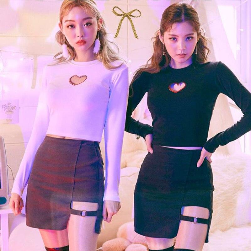 Harajuku Black Body Slim Solid Color Irregular Sexy Half-length Micro Lap Skirt Summer Fashion Harajuku Skirt Korean Version