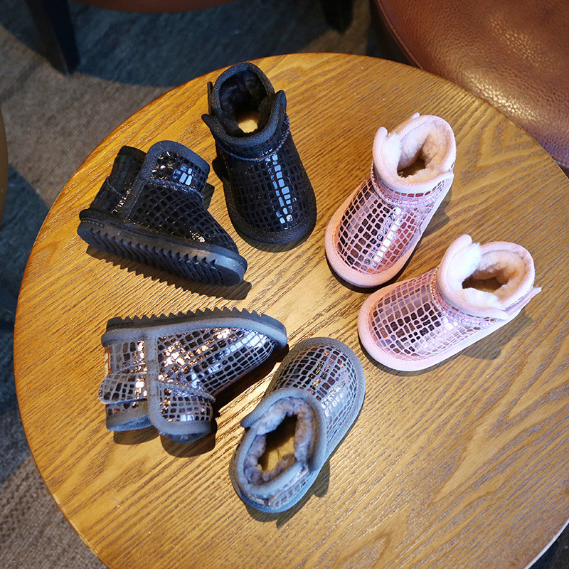 Sequins Non-Slip Soft Bottom Cotton Boots 1