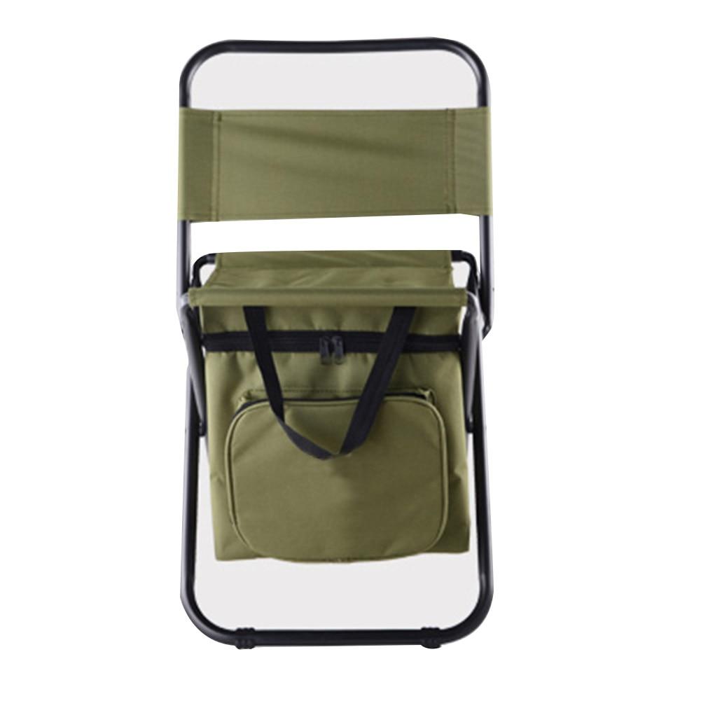 Folding Camping Fishing Chair Seat Chair w/Cooler Bag