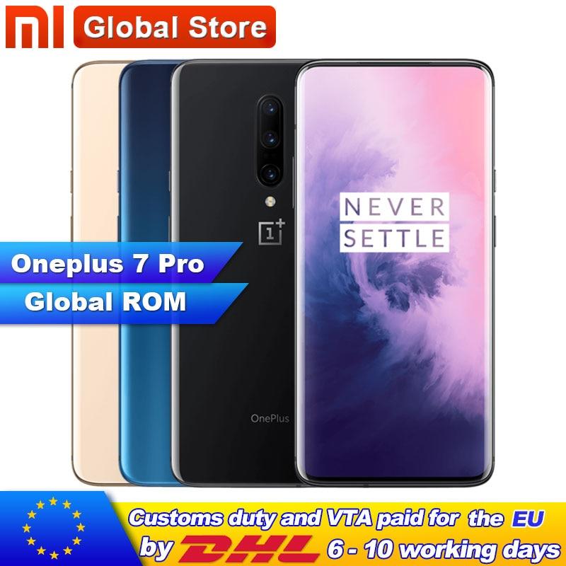 Global ROM Original Oneplus 7 Pro 8GB 12GB RAM 256GB ROM Smartphone 6.67 Inch Screen Fingerprint ID NFC 48MP Camera