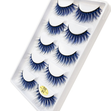 Flash Girl Real Mink Eyelash 5 Pairs Colorful Light and Soft Charming Eyelashes for Makeup Maquiage 5D01 5D02 5D03 5D04