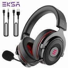 Eksa e900 gaming headset gamer over-ear 7.1 surround estéreo com fio fones de ouvido com microfone usb luz led para computador ps4 xbox um