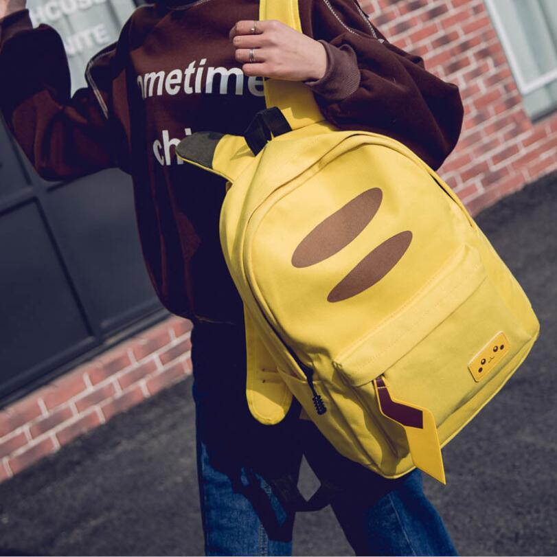 Anime Pokemon Go Pikachu Backpack Pokemon Computer Cartoon Yellow School Bags For Teenager Girls Boys Kawaii Sac A Dos