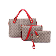women handbags Wholesale Fashion PVC Leather Tote Bag Set New Design Waterproof PU Women Handbag for Ladies