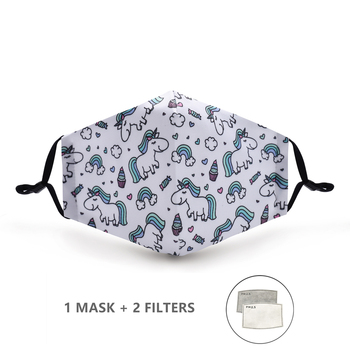 Variation #27 of fashion reusable protective pm2.5 filter printing mouth mask anti dust face mask windproof mouth-muffle bacteria proof flu mask