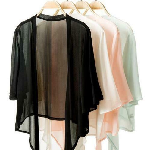Women's 100% Pure Silk Thin Shawl Cardigan Blouse Top Shirt ONE SIZE JN004