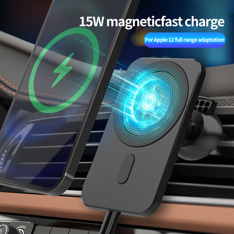 15w Magnetic Car Wireless Charger For iPhone 12 Pro MAX 12 Mini Qi Fast Charging Mount Air Vent Phone Stand Mag safe Car Holder