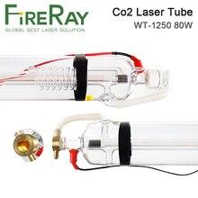 Co2 лазерная трубка FireRay WT1250 80 Вт, стеклянная трубка диаметром 80 мм и длиной 1250 мм, используется для лазерной и гравировальной машины Co2