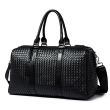 New Leather Bag Men Soft PU Zipper Neutral Large Capacity Travel Bag Casual Business Handbag Solid Color Shoulder Hand-woven Bag high quality large capacity men pu leather computer business handbag casual vintage shoulder crossbody bag for travel work