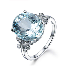 QYI 6 Ct Oval Cut Sky Blue Natural Topaz Luxury 925 Sterling Silver Engagement Women Gemstone Jewelry Fashion Butterfly Ring