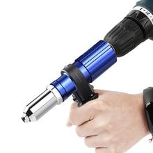 цена на Electric Rivet Gun Adapter 2.4mm-4.8mm Blind Rivet Nut Drill Adapter Riveting Tool Insert Nut Tool