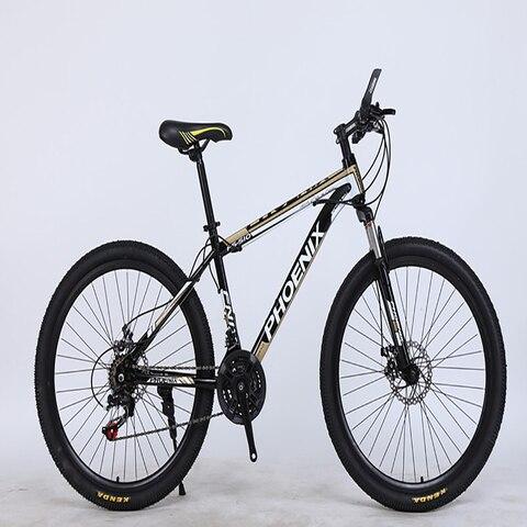 Material de Aço Freio a Disco Carbono Polegadas 27 Velocidade Duplo Confortável Bicicleta Acessórios Mountain Bike 26 – 27.5