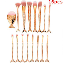 Sets & Kits 16PCS Make Up Foundation Eyebrow Eyeliner Blush Cosmetic Concealer Brushes Makeup Brushes Professional