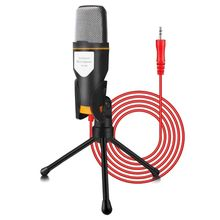 PC Condenser Microphone with Mic Stand Professional 3.5mm Jack 1.8 m Cable For iPad iPhone Laptop Singing YouTube Skype Gaming