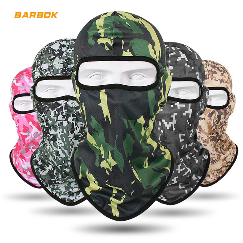 Breathable Men's Motorcycle Helmet Inner Caps Anti-Sweat Motocross Racing Ski Hockey Under Helmet Lining Face Mask Shield Scarf