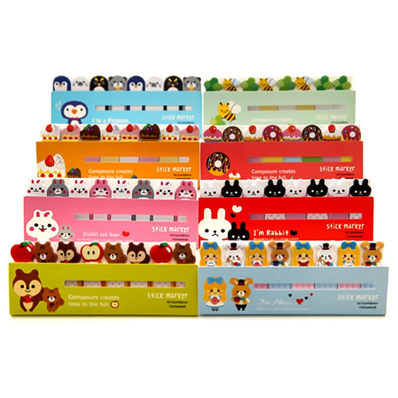 Mini Kawaii Memo Pads DIY N Times Stickers Cartoon Animal Cat Panda Music Post It Note Office School Supply Japanese Stationery image