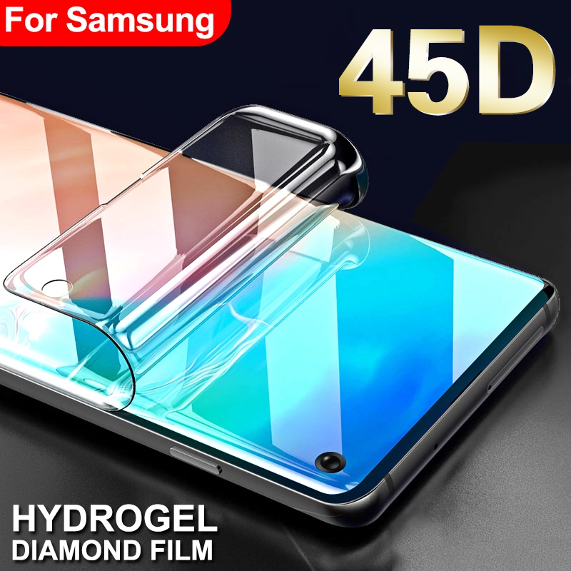 45D Protective Hydrogel Film On For Samsung Galaxy S8 S9 S10 Plus S10e Screen Protector On Galaxy S6 S7 Edge Note 8 9 Not Glass