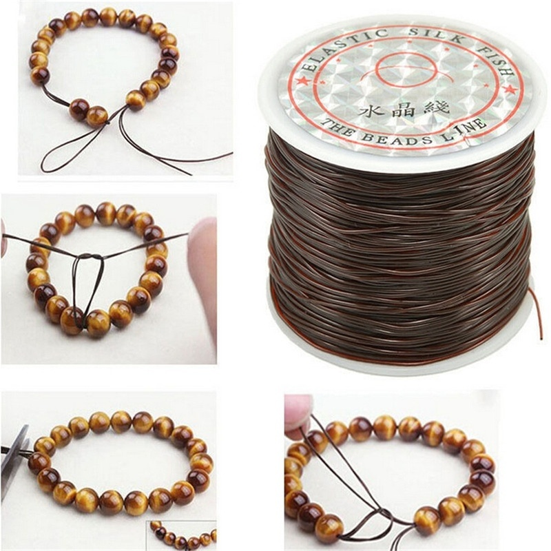 393inch/Roll Strong Elastic Crystal Beading Cord 1mm for Bracelets Stretch Thread String Necklace DIY Jewelry Making Cords Line(China)