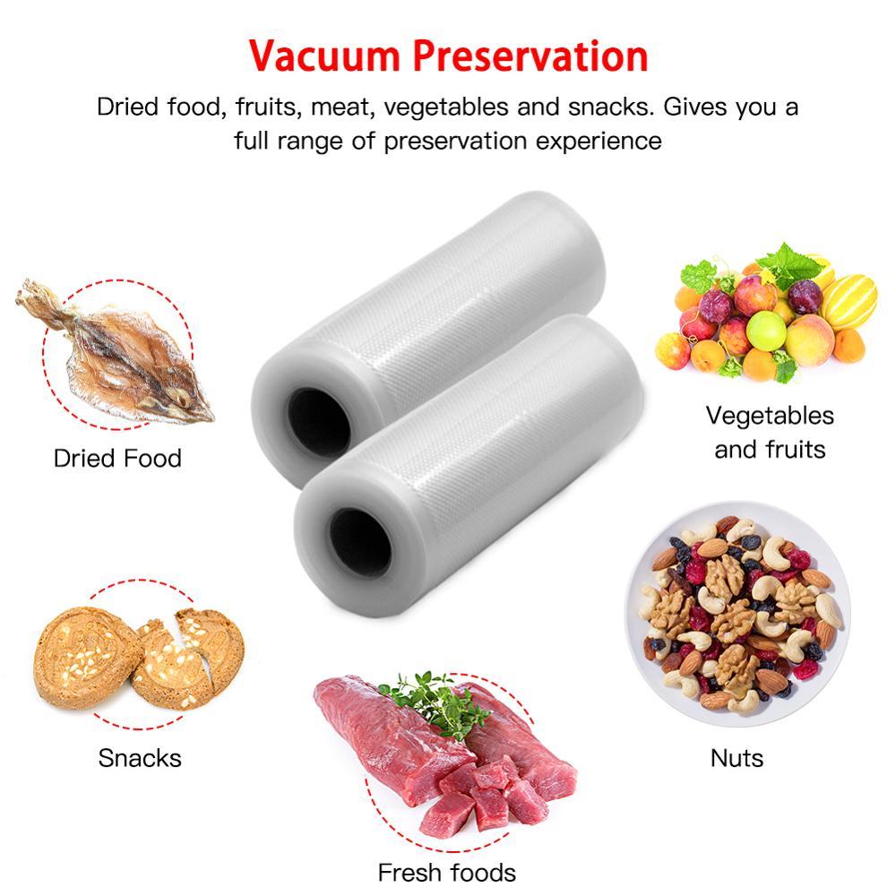 Вакуумный упаковщик, упаковка, мешок для кухни, Вакуумный пакет для пищевых продуктов, пакеты для хранения продуктов, свежие, длинные, сохра...