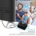 AptX HD ll NIEDRIGEN LATENZ Optische Audio Bluetooth 5 0 Sender für Dual Kopfhörer Lautsprecher für TV Wireless Audio Adapter MR275-in Funkadapter aus Verbraucherelektronik bei