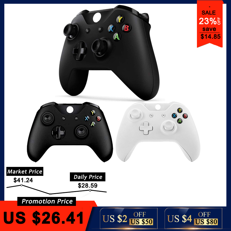 Mando o Controle Gamepad Para Xbox Um Controlador de Jogos sem fio Para Xbox One S Console Joystick Para X box Um Para PC Win7/8/10